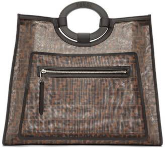 Fendi Brown Mesh Large Forever Tote