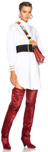 Fendi Fishtail Hem Shirt Dress