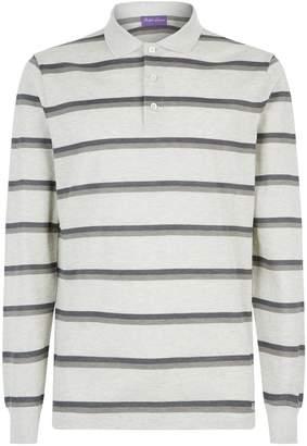 Ralph Lauren Purple Label Striped Long Sleeve Polo Shirt