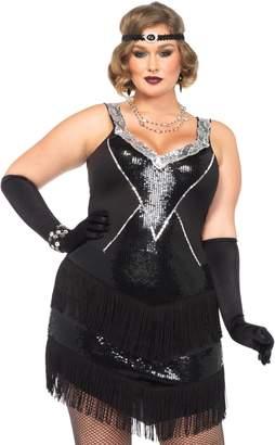 Leg Avenue Women's Plus-Size 2 Piece Glamour Flapper Costume
