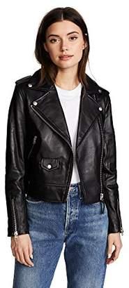 Mackage Women's Baya Classic Sleek Leather Moto Jacket