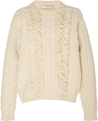 Tory Burch Wool Fringe Sweater