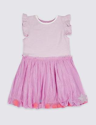 Marks and Spencer Puffball Hem Dress (3 Months - 7 Years)