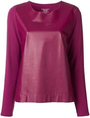 Majestic Filatures fabric mix blouse