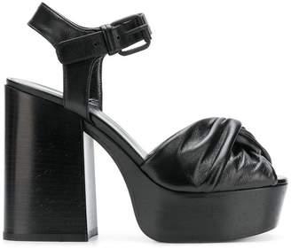 Sonia Rykiel draped platform sandals