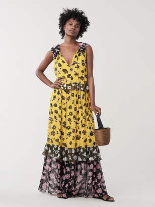 Diane von Furstenberg Drea Ruffled Silk-Chiffon Maxi Dress