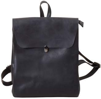 EAZO - Minimalist Genuine Leather Backpack Black
