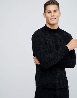 Brave Soul Chenile Turtleneck Sweater