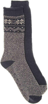 Aston Grey Snowflake Boot Socks - 2 Pack - Men's