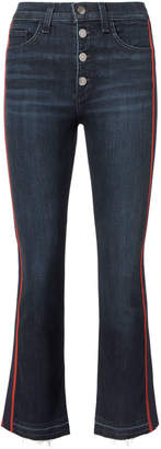 Veronica Beard Carolyn Tuxedo Stripe Baby Boot Jeans