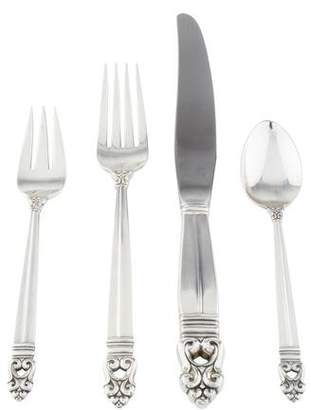International Silver 48-Piece Royal Danish Sterling Flatware Set