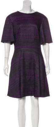 Christian Siriano Printed Knee-Length Dress