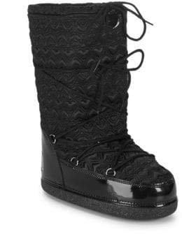 Love Moschino Textured Logo Mid-Calf Boots