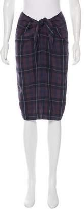 Jenni Kayne Silk Plaid Skirt w/ Tags