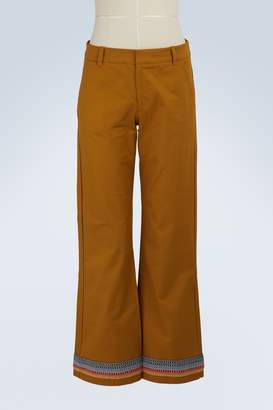 Jour/ne Flared cotton pants