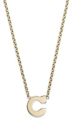"Rachel Zoe Zoë Chicco 14K Yellow Gold Initial Necklace, 16"""