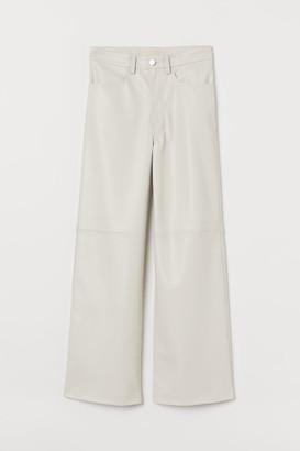 H&M Faux Leather Pants - White