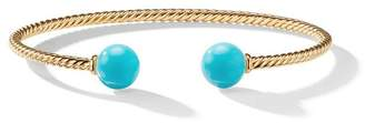 David Yurman 18kt yellow gold Solari turquoise cuff bracelet