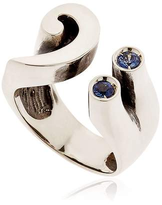 Manuel Bozzi Bass Key Sterling Silver & Sapphire Ring