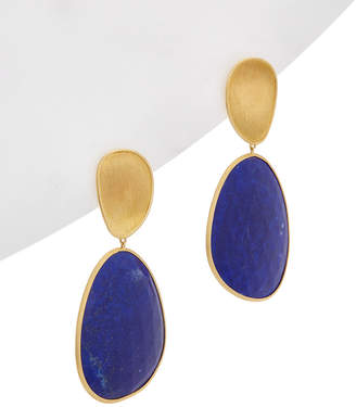 Marco Bicego Lunaria 18K Yellow Gold Lapis Earrings