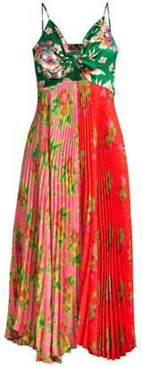 DELFI Collective Quinn Floral Plisse Handkerchief Camisole Dress