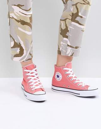 Converse Chuck Taylor hi trainer in pink
