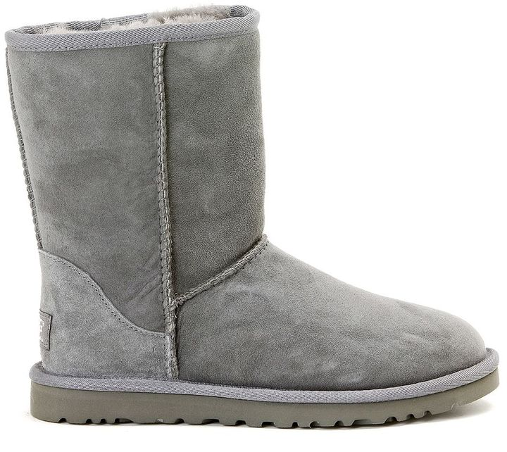 UGG Classic Short Grey Ankle Boot