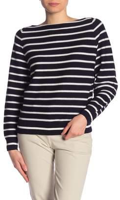 Vince Striped Waffle Raglan Sweater