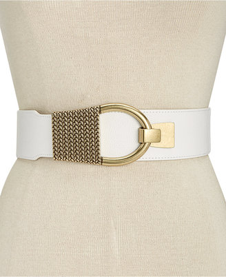INC International Concepts Hook-Front Stretch Belt, Only at Macy's $36.50 thestylecure.com