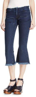 Marques Almeida Marques'almeida Cowboy Cropped Flare-Leg Jeans