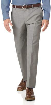 Charles Tyrwhitt Light Grey Slim Fit Lightweight Wool Tailored Pants Size W30 L30