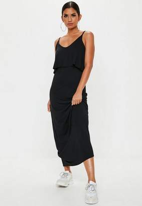 Missguided Black Overlay Maxi Dress