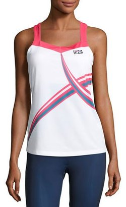 Fila MB Court Central Tank Top, White $150 thestylecure.com