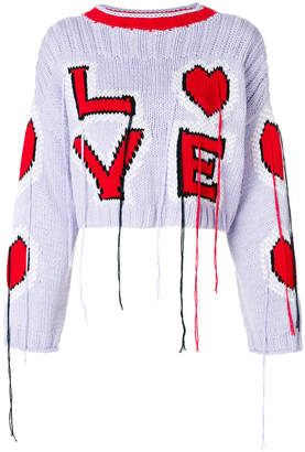 cropped Love sweater