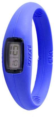 Ioion IO?ION! IO? DEBATE! EVO Electric Unisex-Watch Blue - Queen III Silicone Digital E-ELB08-III