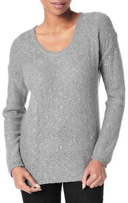 NYDJ Sequined Scoop Neck Sweater