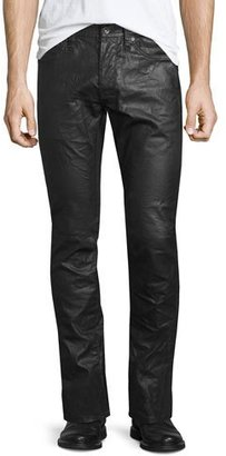 John Varvatos Star USA Coated Straight-Leg Denim Jeans, Black $248 thestylecure.com
