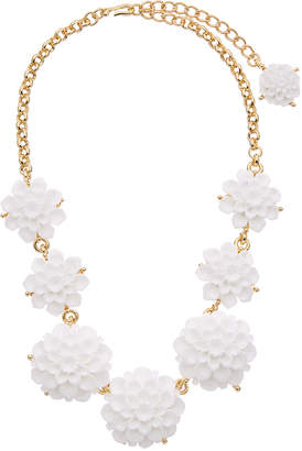 Kenneth Jay Lane 22K Plated Resin Necklace