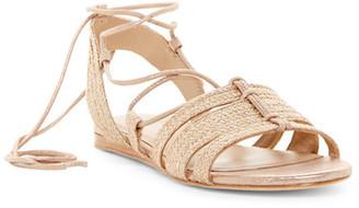 Pour La Victoire Lora Lace-Up Flat Sandal $195 thestylecure.com