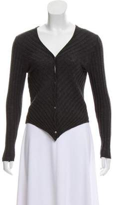 Donna Karan Wool Cropped Cardigan