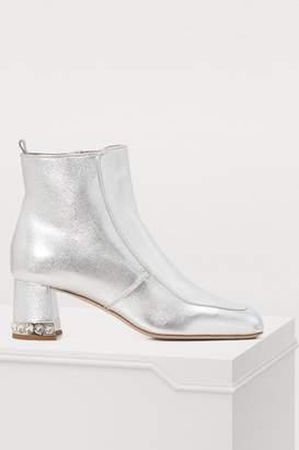 Miu Miu Crystal heel ankle boots