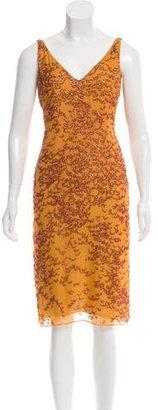 Vera Wang Bead-Embellished Sheath Dress $125 thestylecure.com