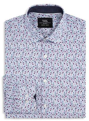 WRK Floral Print Slim Fit Dress Shirt