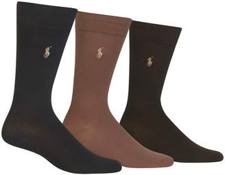 Polo Ralph Lauren Men's 3 Pack Super-Soft Dress Socks