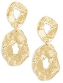 Kenneth Jay Lane Hammered Double Drop Earrings