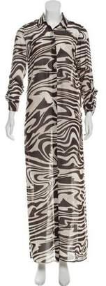 MICHAEL Michael Kors Animal Print Maxi Dress