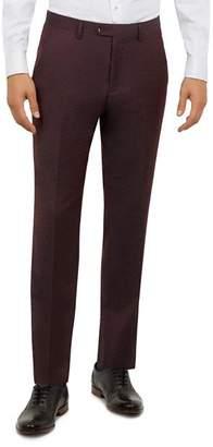 Ted Baker Kubratt Debonair Semi-Plain Slim Fit Wool Trousers