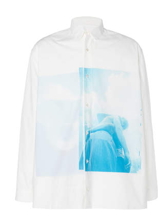 Jil Sander Printed Cotton-Poplin Button-Up Shirt