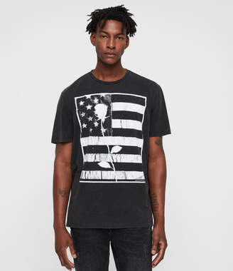 AllSaints Stars And Bars Crew T-Shirt
