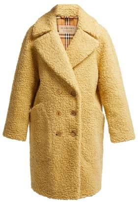 Burberry Willingstone Wool Blend Teddy Coat - Womens - Beige